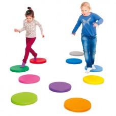 Спортивно-игровой мягкий модуль для сенсорной комнаты балансировочные точки-сидушки для детей от 3-х до 10 лет