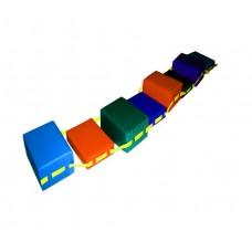 Спортивно-игровой мягкий Модуль-Балансировочный путь Кирпичики  для сенсорной комнаты для детей от 3 до 10 лет