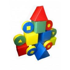 Мягкий детский Игровой Модульный Конструктор Блок-1, 14 геометрических модулей для дома, игровых центров, школ