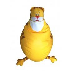 Бескаркасное детское Кресло-мешок Тигр со съемным чехлом, ручка для переноски, пенополистирол 90х50х30 см