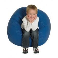 Мягкое Бескаркасное Кресло-мяч со съемным тканевым чехлом и ручкой для переноски, синий D=65 см, H=40 см