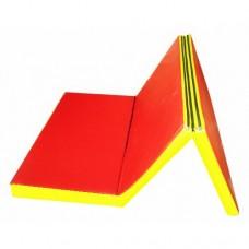 Гимнастический Складной Мат для спортивных залов или домашних тренировок с ручкой для переноски 200х100х5 см