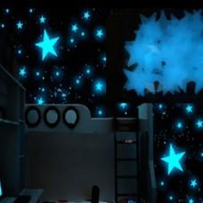 Световое решение для дома и сенсорной комнаты: Комплект Световых стикеров Звездное небо 3х3 см (100 шт.)