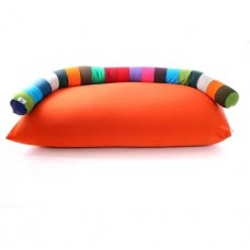 Бескаркасный мягкий детский диван со спинкой на липучке для детского сада, дома до 10 лет Гусеница 70х185 см