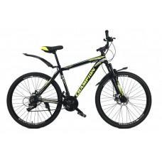 Горный Велосипед Champion Lector взрослый колеса 29 дюймов, алюминиевая рама 19 дюймов, вес 14кг - Черный-Желтый