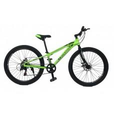 Горный Велосипед CrossBike Blast RIGID Подростковый колеса 26 дюймов, рама 11 дюймов, 13.2кг - Неоновый зеленый