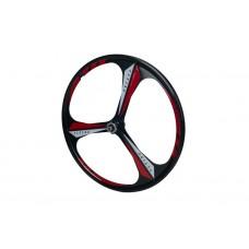 Комплект литых дисков из 2 штук для велосипедных колес размером 26 дюймов на 3 спицы, под дисковый тормоз