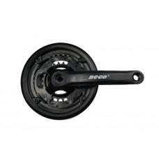 Система шатунов для велосипеда Neco NSP-3001 стальные звезды 24/34/42T, длина 17см, каретка под квадрат - черный