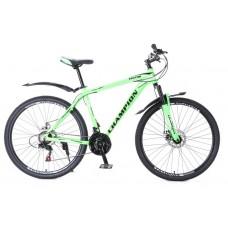 Горный Велосипед Champion Lector взрослый колеса 29 дюймов, алюминиевая рама 21 дюйм вес 15кг - Неоновый зеленый