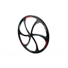 Комплект литых дисков из 2 штук для велосипедных колес размером 26 дюймов на 6 спиц, под дисковый тормоз