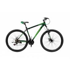Горный Велосипед CrossBike Leader взрослый колеса 27.5 дюймов, алюминиевая рама 17 дюймов, 14кг - Черный-Зеленый