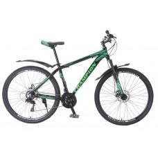 Горный Велосипед Champion Lector взрослый, колеса 29 дюймов, алюминиевая рама 21 дюйм, вес 15кг - Черный-Зеленый