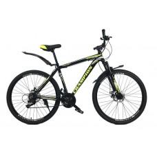Горный Велосипед Champion Lector колеса 27.5 дюймов, алюминиевая рама 19.5 дюймов, вес 14кг - Черный-Жёлтый