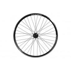Колесо велосипедное переднее 29 дюймов с двойным алюминиевым ободом под дисковый тормоз спицы 14G - Черный-Белый