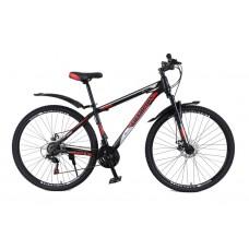Горный Велосипед Champion Spark колеса 27.5 дюймов, стальная рама 17 дюймов вес 15кг - Черный-Красный-Серебряный