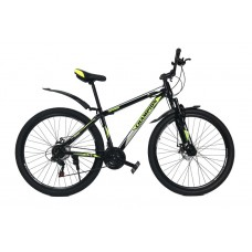 Горный Велосипед Champion Spark колеса 27.5 дюймов, стальная рама 17 дюймов, вес 14кг - Черный-Желтый неон-Белый
