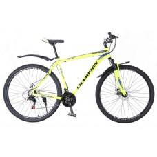 Горный Велосипед Champion Lector взрослый колеса 29 дюймов, алюминиевая рама 21 дюйм, вес 15кг - Неоновый желтый