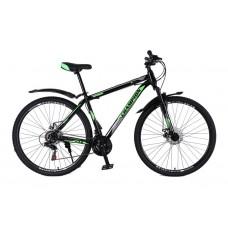 Горный Велосипед Champion Spark колеса 27.5 дюймов, стальная рама 19 дюймов, вес 15кг - Черный-Зеленый-Белый