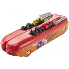 Игрушка Детская Машинка Хот Вилс Молниеносные половинки красная Hot Wheels Split Speeders Hot Dogger
