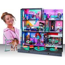 Детский Большой трехэтажный Игровой Дом для кукол ЛОЛ с лифтом, террасой, бассейном, песочницей - LOL OMG Stage