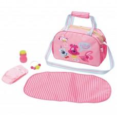 Детская Игровая Сумка для Куклы Мамина забота с аксессуарами розовая Беби Борн Baby Born Zapf Creation