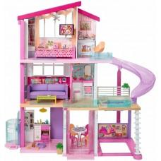 Детский игровой набор для кукол Барби 3-х этажный Дом Мечты с горкой и бассейном, гаражом и мебелью Barbie 59230-14 tst-776594885