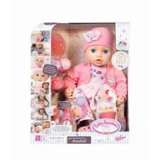 Детская Игровая Интерактивная Кукла Многофункциональная Праздничная 43 см Baby Annabell Zapf Creation