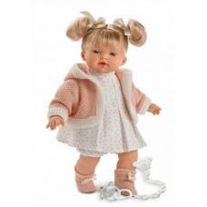 Детская Игровая Испанская Кукла Роберта в платье, интерактивная, говорящая, мягконабивная, 33 см Llorens Juan
