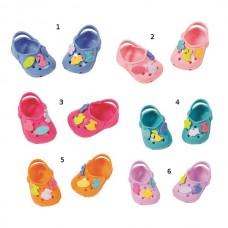Детская Игрушечная Обувь для Куклы Бэби Борн Сандали Кроксы с аксессуарами цветные, Baby Born Zapf Creation