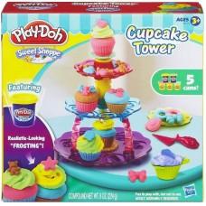 Детский Игровой Набор Для Девочек Башня из кексов с 5 банками пластилина Плей До Sweet Shoppe Play Doh 58790-14 tst-269403968