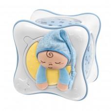 Детская Мягкая Игрушка проектор-ночная лампа Радуга Голубая с выбором мелодий, цвета и фигур Chicco Чико