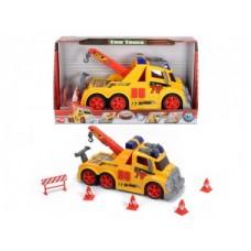 Игрушка Детская Для Мальчиков Машинка для Дорожных работ, звук и световые эффекты, дорожные знаки Dickie Toys