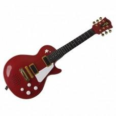 Детский Развивающий Музыкальный Инструмент Рок Гитара с 6 металлическими струнами, плечевой ремень 56см, Simba