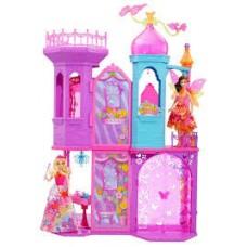 Детский игровой набор для девочки 2-х этажный Волшебный замок Принцессы с мебелью Barbie Mattel Маттел Барби 58470-14 tst-320014657