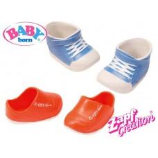 Детские Игровые Голубые Ботинки и красные сандалии для Куклы Бэби Борн 2 пары Baby Born Zapf Creation