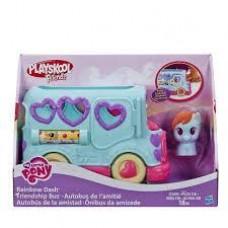 Игровой Набор для девочек Автобус дружбы и Фигурка Пони Радуга Дэш Моя Маленькая Пони - My Little Pony Playskool