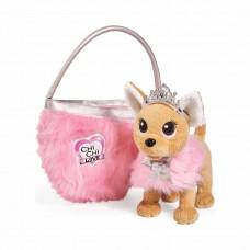 Детская Мягкая Игрушка для Девочек Cобачка Чи Чи Лав Принцесса с  сумочкой и короной 20 см Chi Chi Love Simba