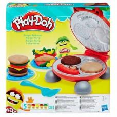 Детский Игровой Набор Бургер Гриль с 5 банками пластилина, грилем разноцветный Плей До Play Doh Hasbr Хасбро 59150-14 tst-622123917