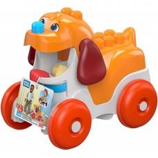 Игровой Развивающий Конструктор для малышей Щенок: кейс-тележка с 15 блоками, Mega Bloks First Builders