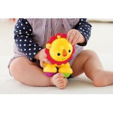 Детская Развивающая Тактильная Игрушка Веселый лев для малышей с подвижными лапками и звуком, Fisher price