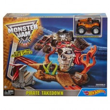 Детский Игровой набор Хот Вилс Пиратские разборки с машинкой и спусковым устройством Monster Jam Hot Wheels 59161-14 tst-627311731