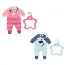 Детская Игровая Одежда для куклы Бэби Борн Комбинезончик с рисунком на вешалке 43 см Baby born Zapf Creation