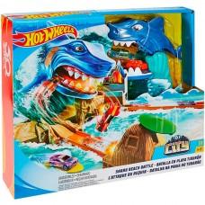 Детский Игровой Трек для машинок ХотВилс Схватка с акулой с пусковым устройством на 2 машины Hot Wheels Mattel 58101-14 tst-763181862