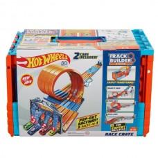Игровой Трек Хот Вилс Экстремальные гонки: 2 стартера, 5 дорожек, 2 машинки, длина 2.45м - Hot Wheels Race Crate
