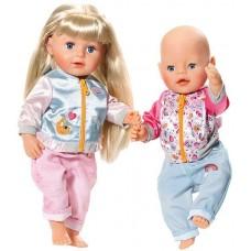 Детская Игровая Одежда для Куклы Бэби Борн комплект для отдыха в ассортименте 43 см Baby Born Zapf Creation