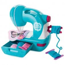 Детская Игрушечная Швейная машинка голубая с тканью и выкройкой Cool Maker Sew N Style Sewing Spin Master