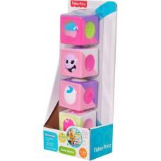 Детский Игровой Развивающий Набор Чудо-кубики с шариком и меняющимися картинками розовые Fisher-Price