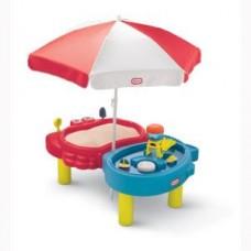 Детская Многоуровневая Конструкция Песочница Водный Столик Тихая Гавань с аксессуарами  и 2 зонами Little Tikes