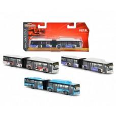 Детская Развивающая Игрушка Автобус-гармошка металлический корпус на колесах 18 см Городской Majorett Мажоретт