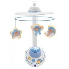 Детская Развивающая Музыкальная Игрушка Подвеска-Мобиль Карусель на кроватку с проектором Первые мечты Chicco